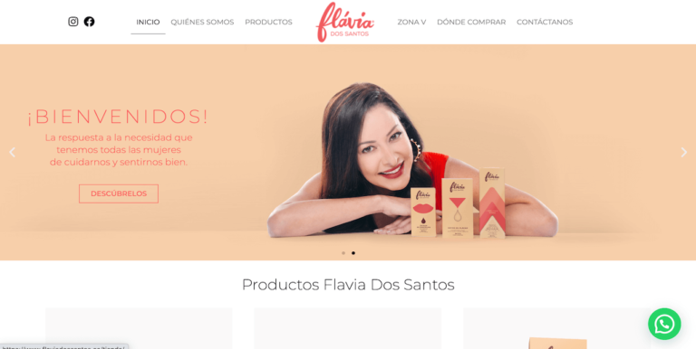 www.flaviadossantos.co red