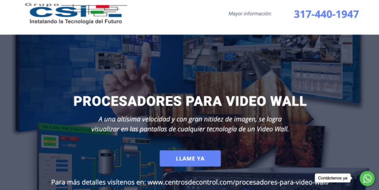 www.procesadoresvideowall.com red